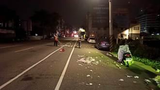 資源回收物散落車道 中市警指揮車流助排除