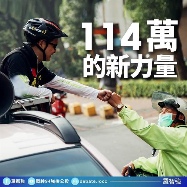 國民黨台北市議員羅智強臉書粉絲突破114萬,期待往115萬粉絲邁進。(圖/摘自羅智強臉書)