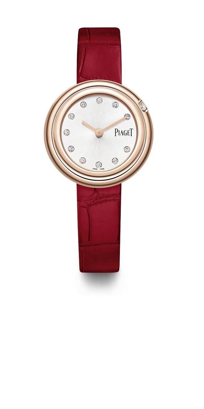 伯爵Possession系列18K玫瑰金鑽表,28萬5000元。(PIAGET提供)