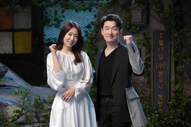 朴信惠與曹承佑在首爾出席新戲記者會。(Netflix提供)
