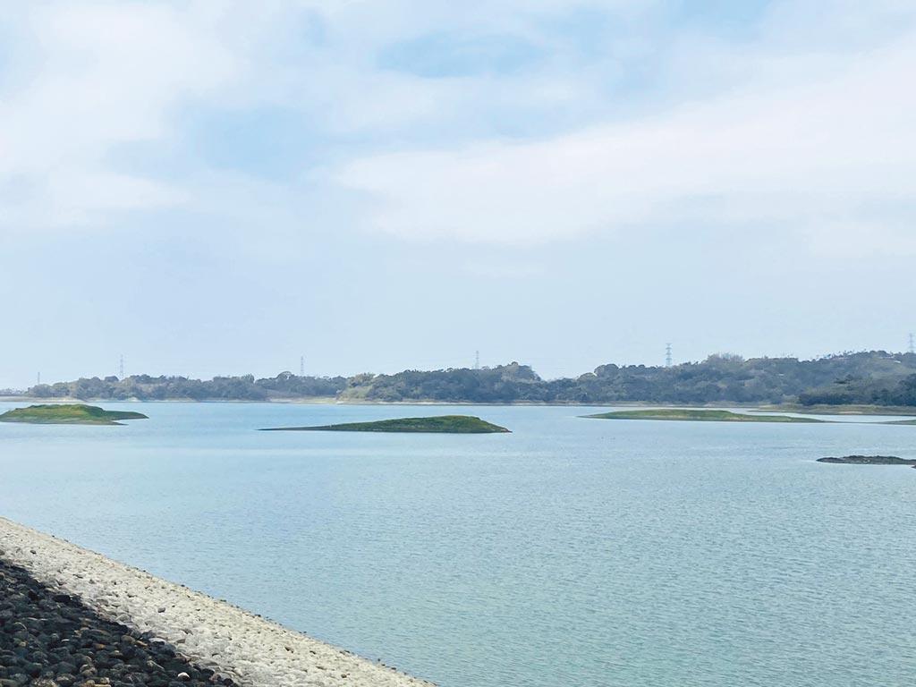 供應嘉義民生及工業用水的仁義潭水庫蓄水率剩50.9%。(民眾提供/張亦惠嘉縣傳真)