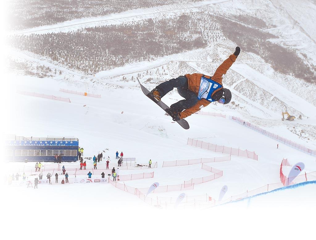 北京冬奧會開幕倒數一周年活動4日在北京舉行。圖為河北省張家口市崇禮區雲頂滑雪公園,是冬奧舉辦場地之一。(新華社)