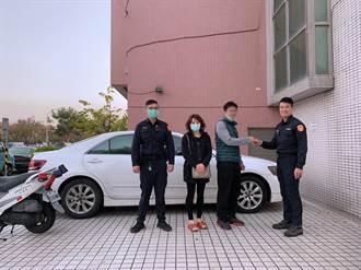 台中女12年前剛買車就遭竊 高雄警年初五尋獲送上大禮