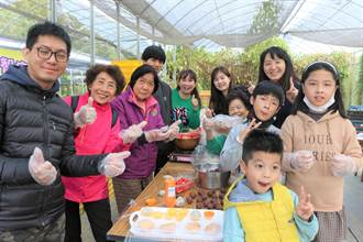 大湖衛所邀祖孫親子樂當農夫 無毒草莓DIY健康早餐