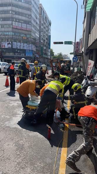 台中瓦斯管漏包商搶修 瞬間閃燃4工人當場燒傷送醫