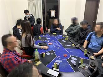赌场迎乔装警入门聚赌 宜警入赌窟当场逮人