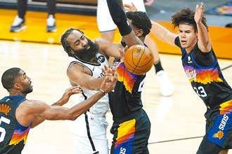 NBA》哈登替補全明星賽 籃網三劍客全部到齊