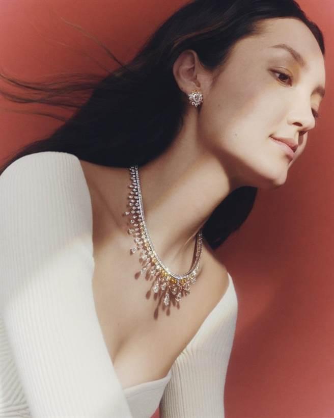 De Beers的「Reflections of Nature」高級珠寶系列 Motlatse Marvel 鑽石項鍊。(De Beers提供)