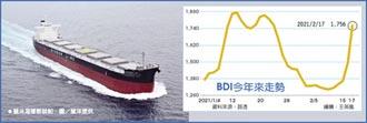 昨大漲17.46% BDI暴漲 散裝船運牛氣沖天