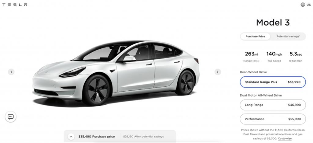 Model 3 與 Model Y 美國突然降價!最高降幅五萬六千元,力拚 SR 入門款銷量