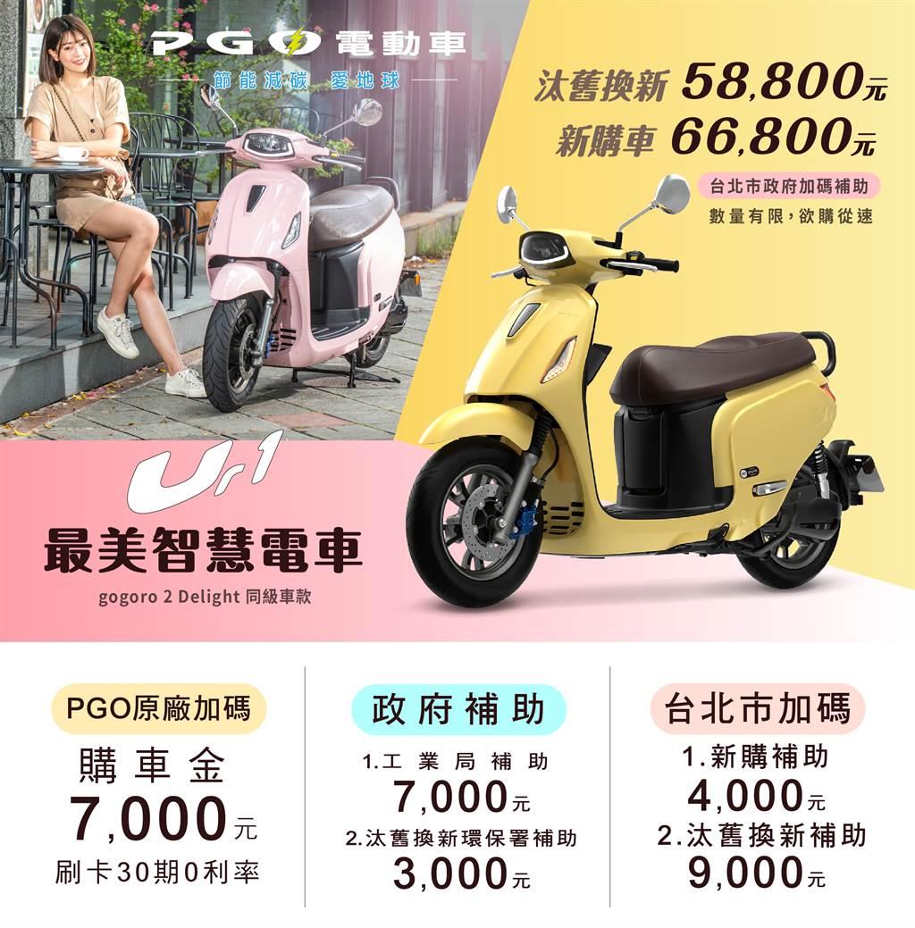 台北市民限定! PGO電動車暖春優惠 58,800元起輕鬆購
