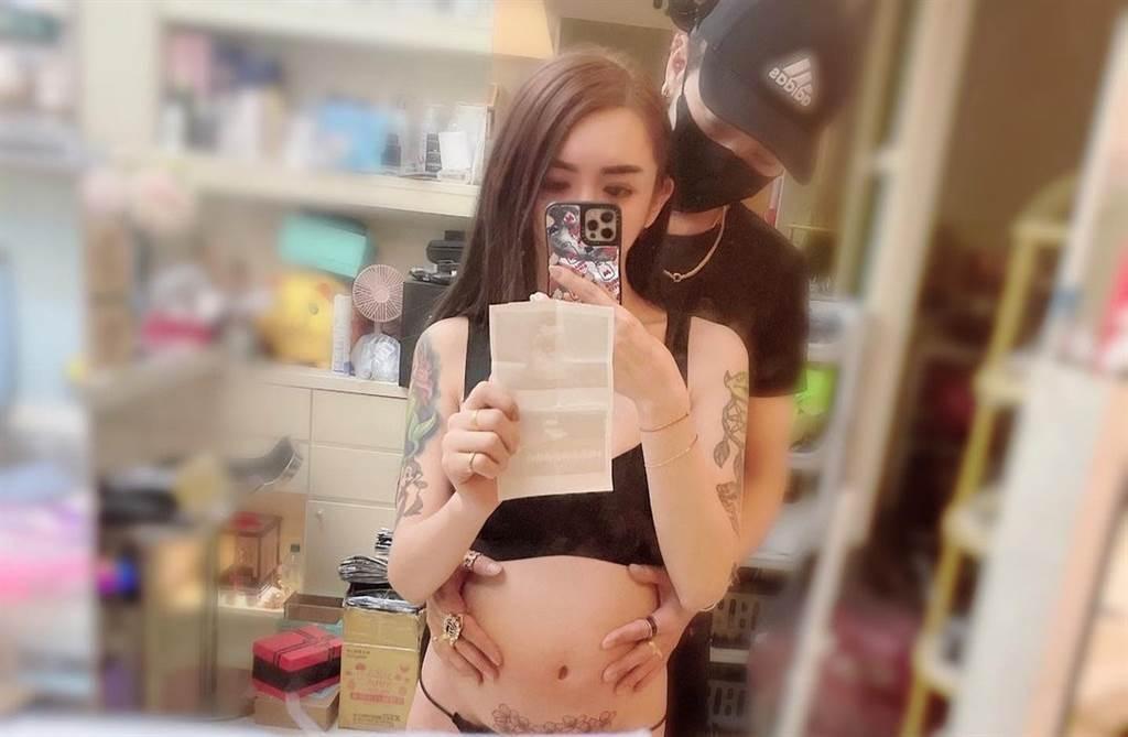 變性網紅罔腰原是男兒身,日前宣布懷孕12週,震驚社會各界。(取自罔腰男友ig)