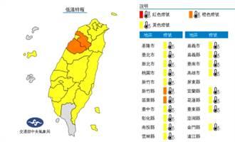 今晨新竹4.8度!全台19縣市低溫特報 專家:注意劇烈溫差
