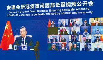 王毅宣稱 中國不加任何政治條件