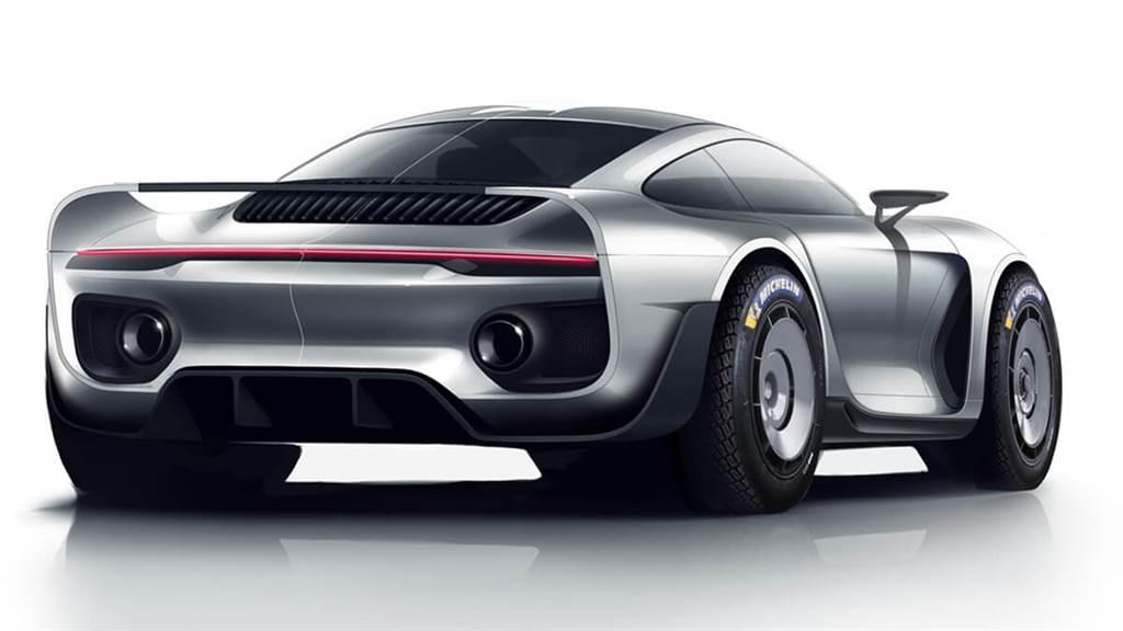 從車尾來看,有Porsche 959的造型設計元素。