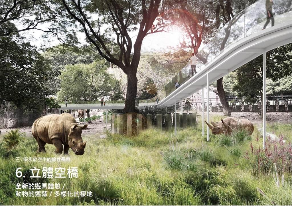 立體空橋將串連新展區。(高市觀光局提供/柯宗緯高雄傳真)