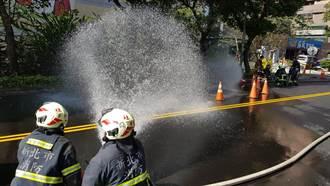 汐止康寧街瓦斯漏氣 道路封閉找洩漏口