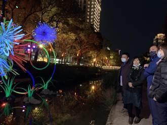 竹市護城河綻放 「凝結煙火」出自旅英藝術家夫妻之手
