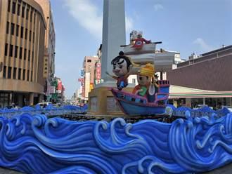 慶元宵 北港顏思齊紀念碑意象燈組訴說開台史
