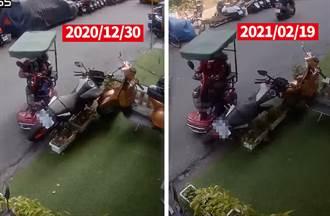 17萬重機停門前 年前年後遭老婦代步車撞倒2次  車主PO影超無奈