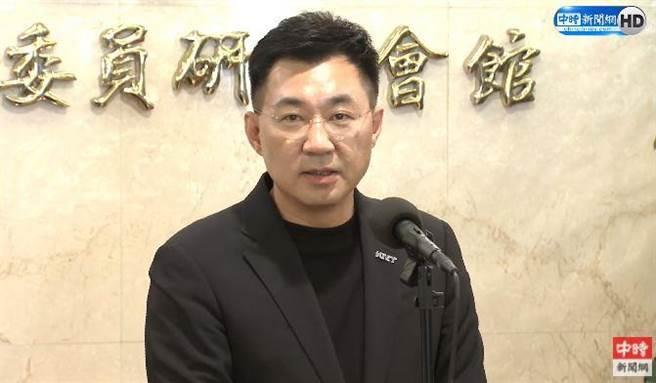 江啟臣宣布競選連任,為黨找「造王者」。(中時新聞網直播)