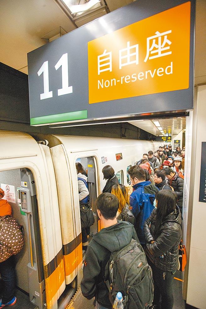 高鐵228連假採全車對號座,並再加開12班次列車疏運。(本報資料照片)