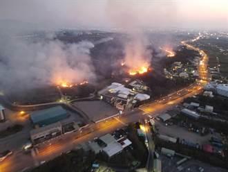通霄五福地區建順煉鋼廠附近雜樹林大火