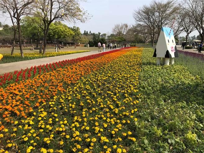 溪州公園「花在彰化」百花盛開。(彰縣府提供/吳敏菁彰化傳真)