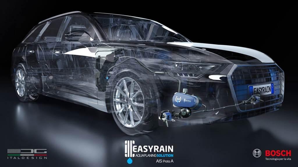 Easyrain、Bosch和Italdesign在量產車上測試全新智能防水漂打滑系統