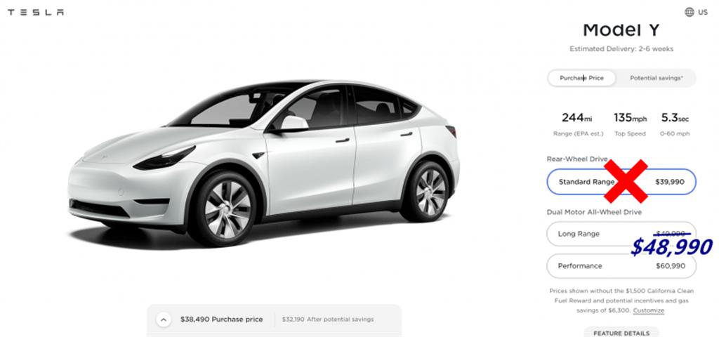 才宣布降價,特斯拉又突然不賣!便宜的 Model Y SR 竟成「短命限量版」?