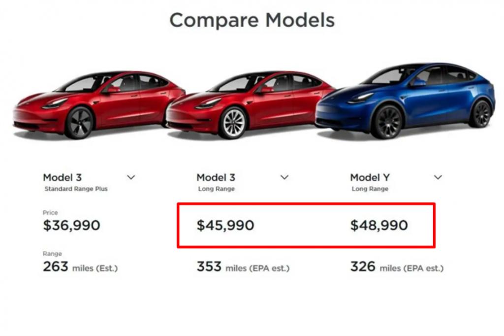 特斯拉一週二度降價,這回輪到 Model 3 與 Model Y LR 長續航版本