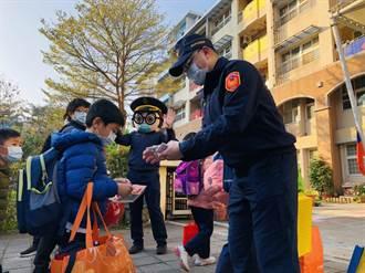 開學日 海山警護童、防疫、婦幼宣導同步執行