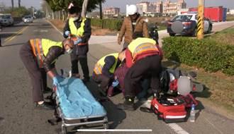 金門瓊林風獅爺景點2機車擦撞 1人送醫治療