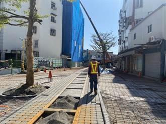 花蓮市舊鐵道商圈顛簸難行 市公所斥資千萬再現新風貌