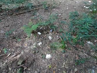 林務局在南庄加里山大坪登山口設置流動廁所