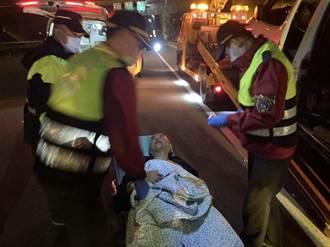 國3通霄段交通事故駕駛突腦中風 員警即時協助送醫