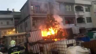 金門城區清晨溶劑空桶起火 居民夢中驚醒