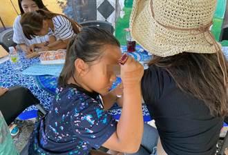 原鄉弱勢童學印度Henna彩繪 為旅客獻上祝福