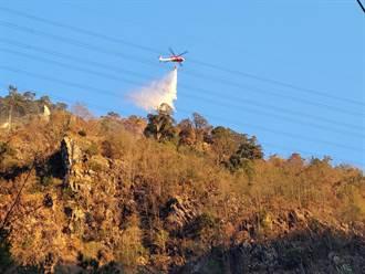 八仙區85林班又傳樹木燃燒 陸空聯手搶救