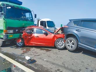西濱快20車連環撞 2死8傷