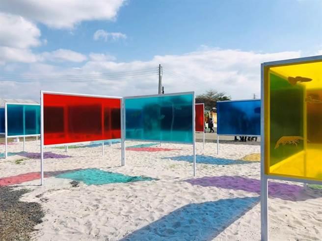 (屏東熱帶農業博覽會水產區以彩虹為主題。圖/屏東縣政府提供)