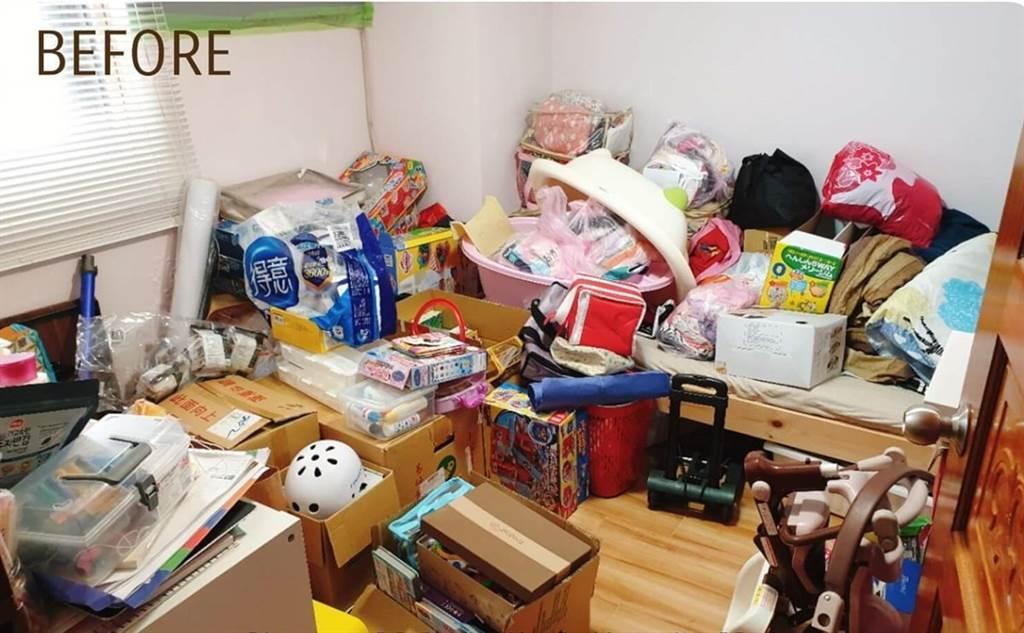 二樓儲藏室整理前。(圖片提供/小印)