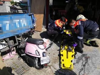 新竹母子三貼撞貨車後斗 母與幼子雙亡長子急救中