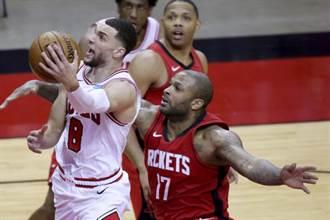 NBA》火箭第三節崩盤苦吞8連敗 公牛改寫隊史紀錄