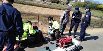 9旬老嫗暈倒田間小路 金山警徒步進入救援