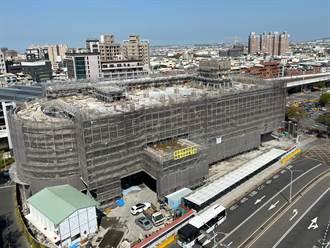 豐原轉運中心結構體工程完成 預計今年底完工