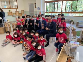 高峰非營利幼兒園啟用 蘇揆參訪提育兒政策