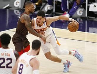 NBA》太陽擊潰拓荒者奪20勝 布克追隊史27年紀錄
