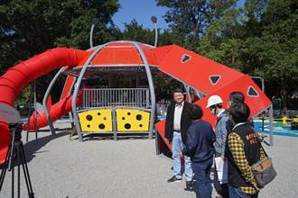 板橋環河公園大改造 增設大型招潮蟹遊具、海龜溜滑梯