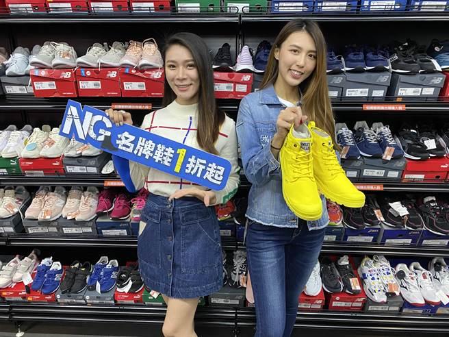 台中日曜天地OUTLET二月26日起將舉辦「NG鞋」出清活動召集50大品牌參與並釋出2萬雙NG鞋以1折起的優惠出清。(馮惠宜攝)